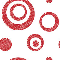 red scribble dot background pattern tile